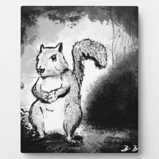 Inky Squirrel Plaque