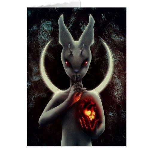 """INLÉ"" Black Rabbit Greeting Card"