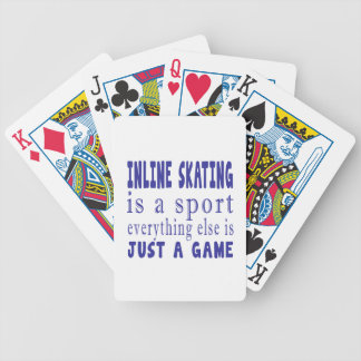 INLINE SKATING JUST A GAME BICYCLE PLAYING CARDS