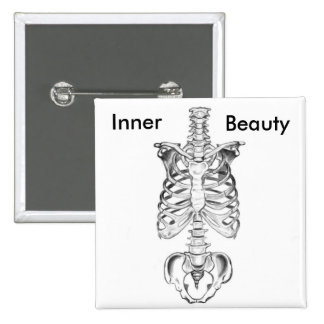 Inner Beauty 2 Inch Square Button