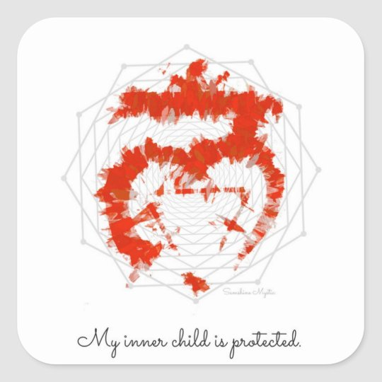 Inner Child Affirmation Root Red Muladhara Sticker