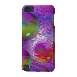 Inner Flow I Abstract Fractal Green Purple Galaxy iPod Touch 5G Cover
