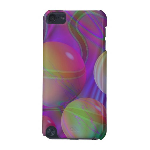 Inner Flow V Abstract Violet Indigo Fractal Galaxy iPod Touch (5th Generation) Cover