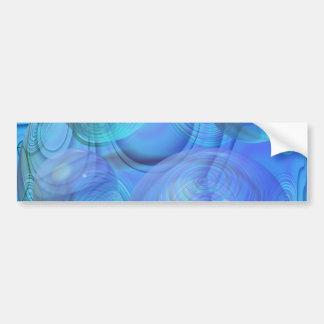 Inner Flow VI – Aqua & Azure Galaxy Bumper Sticker