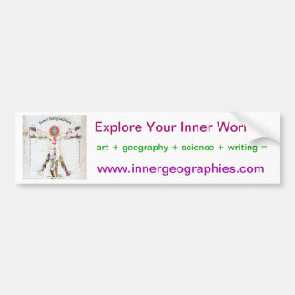 Inner Geographies Bumpersticker Bumper Sticker
