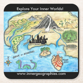 Inner Geographies Map Coasters