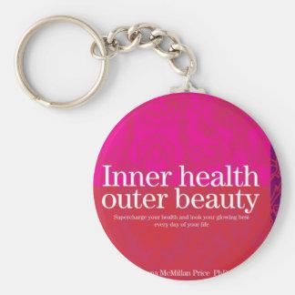 Inner Health cover Basic Round Button Keychain
