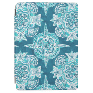 INNER MERMAID COMPASS Aqua Beach Shell Mandala iPad Air Cover