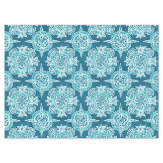 INNER MERMAID COMPASS Aqua Beach Shell Mandala Tissue Paper