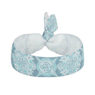 INNER MERMAID COMPASS Aqua Beach Shell Moroccan Hair Tie