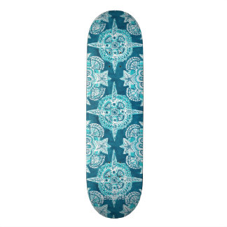 INNER MERMAID COMPASS Aqua Beach Shell Moroccan Skateboards
