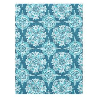 INNER MERMAID COMPASS Aqua Beach Shell Moroccan Tablecloth