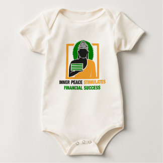 Inner Peace Stimulates Financial Success Baby Bodysuit