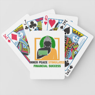 Inner Peace Stimulates Financial Success Bicycle Playing Cards