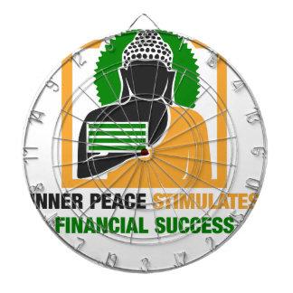 Inner Peace Stimulates Financial Success Dartboard