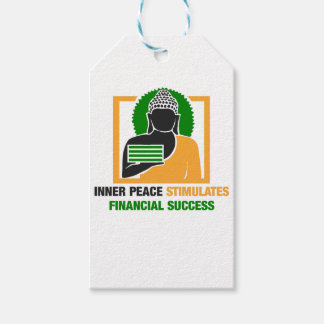 Inner Peace Stimulates Financial Success Gift Tags