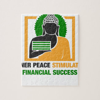 Inner Peace Stimulates Financial Success Jigsaw Puzzle