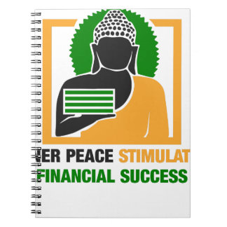 Inner Peace Stimulates Financial Success Notebook