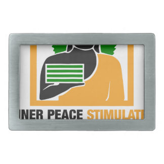 Inner Peace Stimulates Financial Success Rectangular Belt Buckle