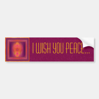 Inner Sanctum Abstract Art Bumper Sticker
