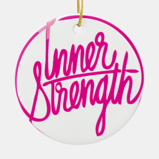 Inner Strength.png Round Ceramic Ornament