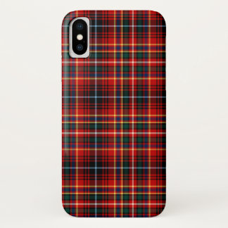 Innes Clan Bright Red Tartan iPhone X Case