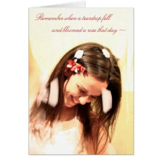 """""""Innocence & Beauty"""" card"""