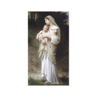 Innocence Madona Baby Lamb bouguereau Canvas Print