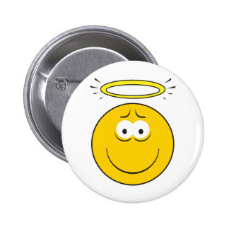 Innocent Angel  Smiley Face 2 Inch Round Button