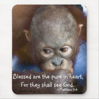 """Innocent Baby  """"Blessed are the pure in heart"""" Mouse Pad"""