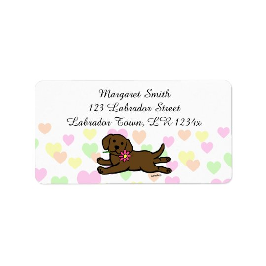 Innocent Chocolate Labrador Puppy Cartoon