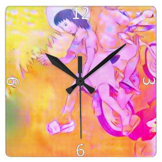 Innocent Days Square Wall Clock