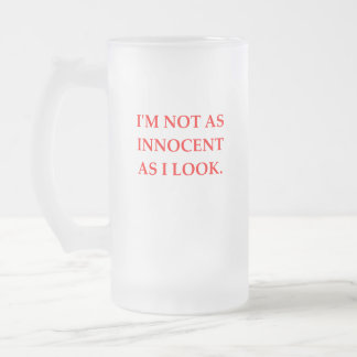 INNOCENT FROSTED GLASS BEER MUG
