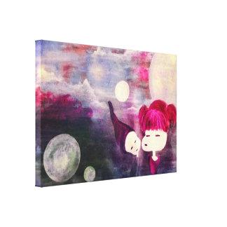 innocent kisses canvas print