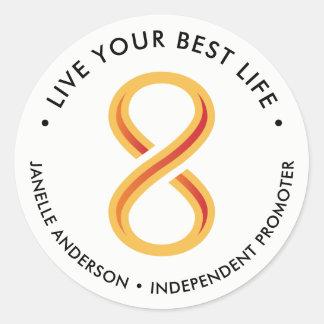 Innov8tive Nutrition Light Classic Round Sticker