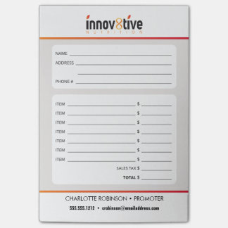 Innov8tive Nutrition Post-it® Notes