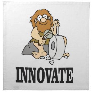 innovation caveman napkin