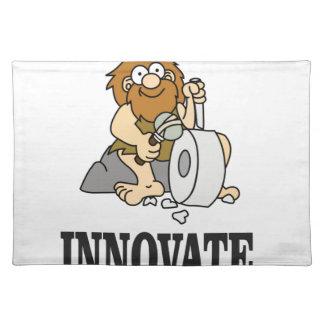 innovation caveman placemat