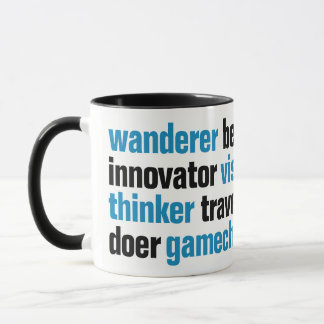 Innovator Gamechanger Visionary Dreamer Tag Cloud Mug