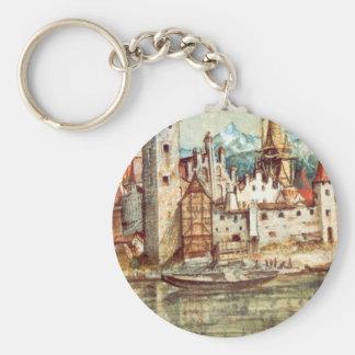 Innsbruck by Albrecht Durer Basic Round Button Keychain