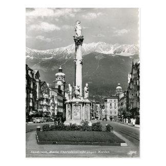 Innsbruck, Maria Theresa Strasse, Tram Postcard