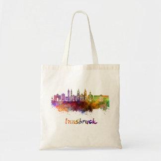 Innsbruck skyline in watercolor tote bag