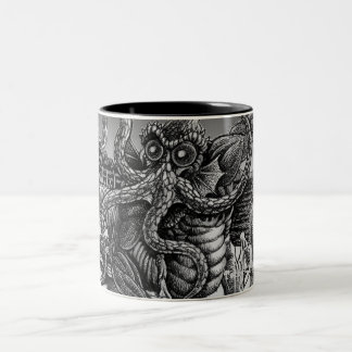 Innsmouth Deep One returning to R'lyeh Two-Tone Coffee Mug