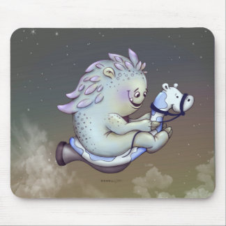 INOUK CUTE ALIEN CARTOON MOUSE PAD