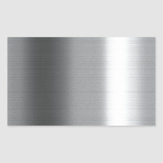 Inoxydable balayé sticker rectangulaire