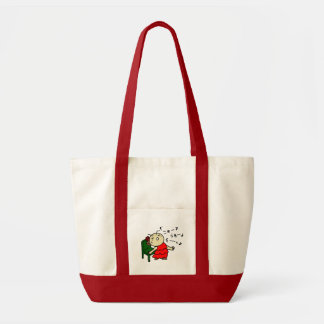 inparusutotokora child red tote bag