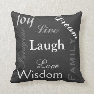Inpirational Words Throw Pillow
