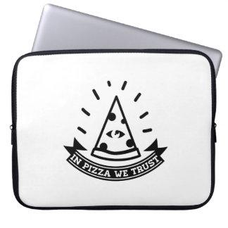 #inpizzawetrust laptop sleeves