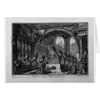 Input of an old high school by Giovanni Battista Greeting Card