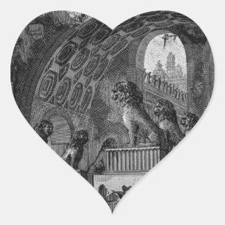 Input of an old high school by Giovanni Battista Heart Sticker
